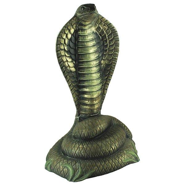 Скульптура садовая Кобра, рисованная, 73см, керамика